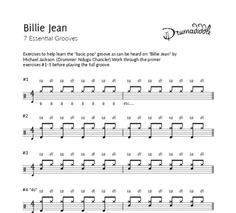 Billie jean   beat sheet