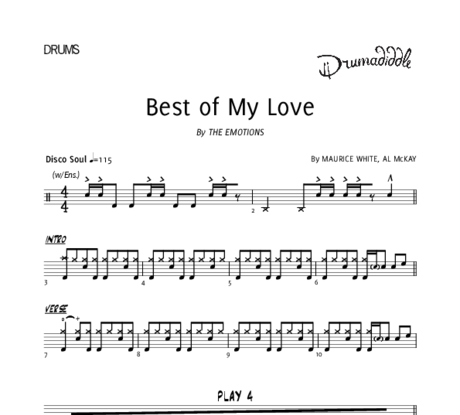 Best of my love   drum chart