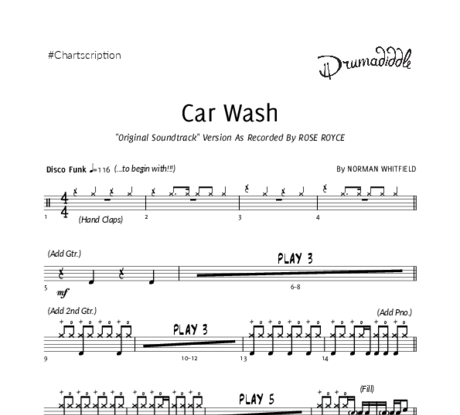 Car wash   drum chart