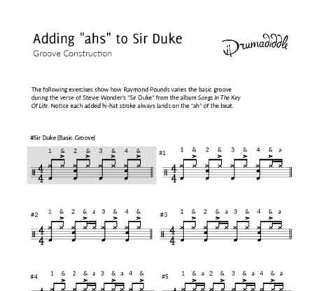 Sir duke %28verse%29   beat sheet