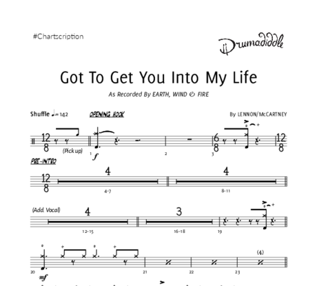 Got to get you into my life %28e w f%29   drum chart