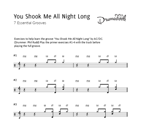 You shook me all night long   beat sheet