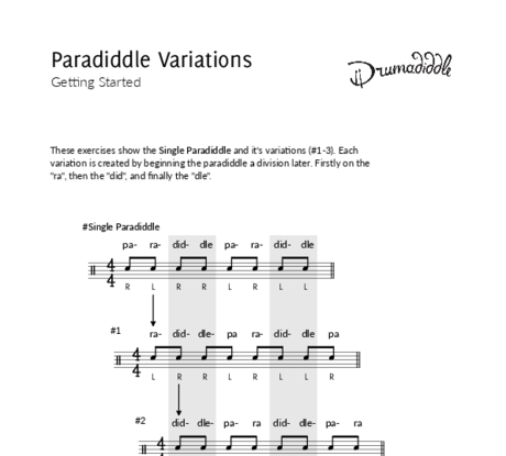 Paradiddle variations