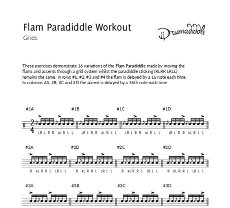 Flam paradiddle workout