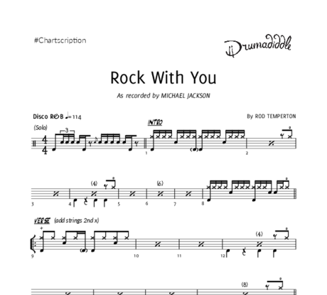 Rock with you   drum chart
