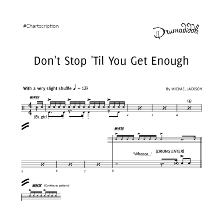 Don't stop 'til you get enough   drum chart