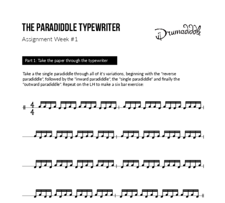 The paradiddle typewriter challenge