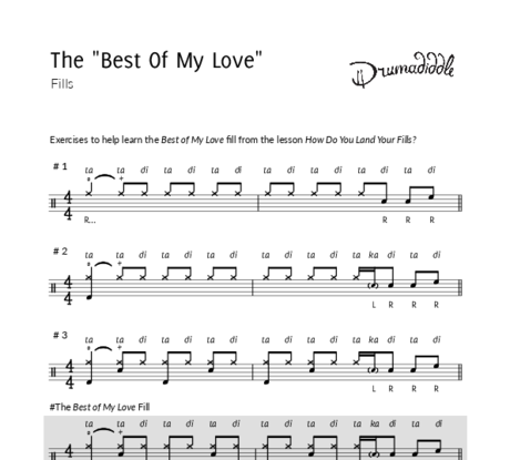 Best of my love   essential fills