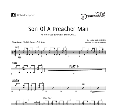 Son of a preacher man   drum chart